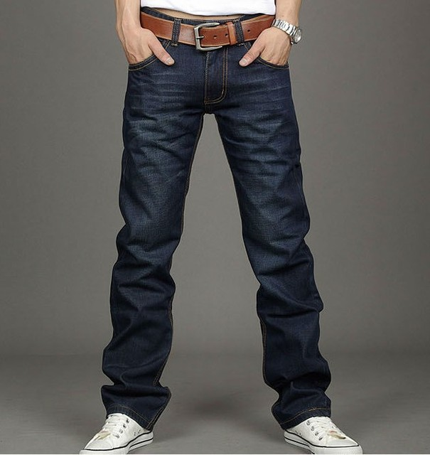 New Fashion Men Casual thick Jeans Slim Straight High