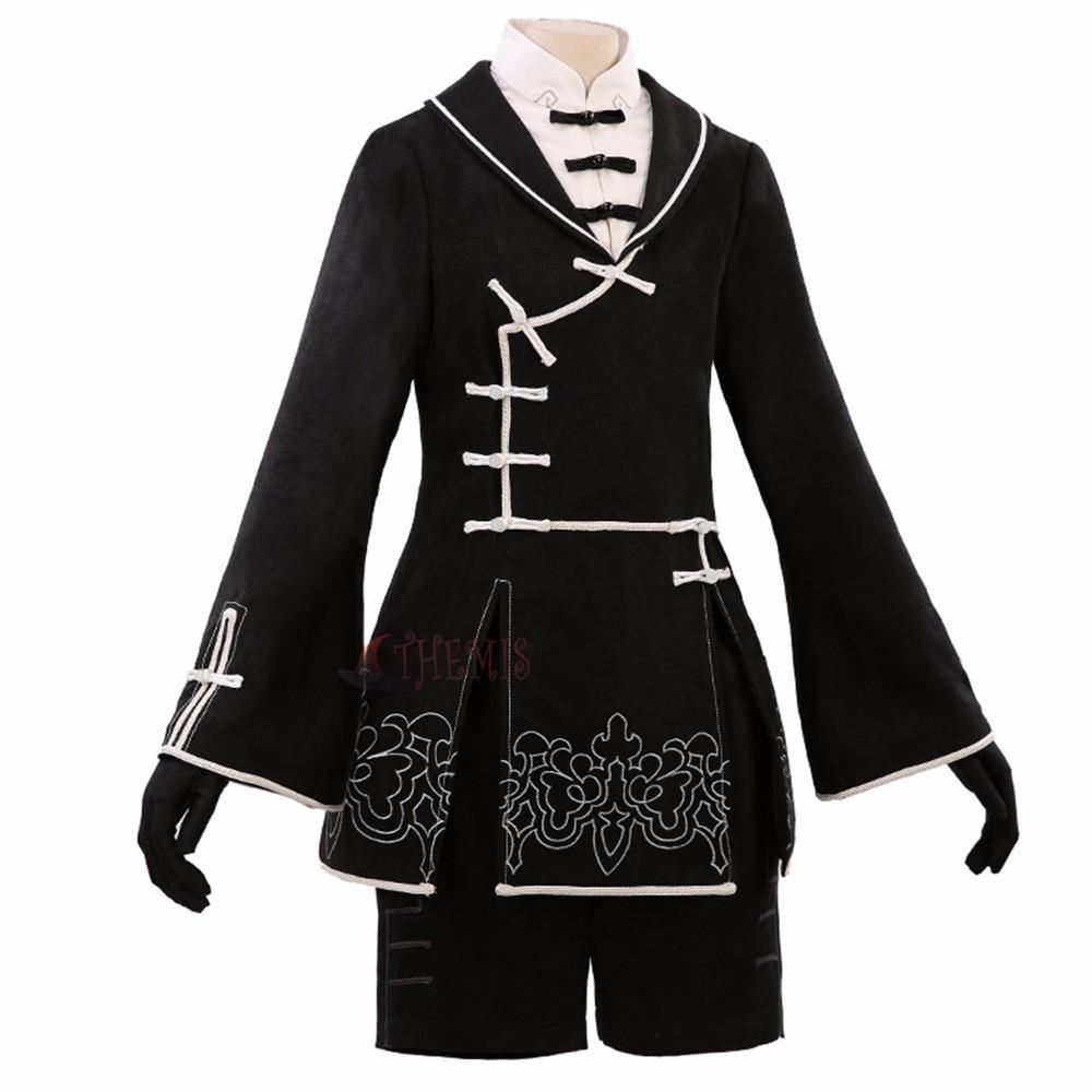 Athemis nier automata 9S Cosplay black male Costumes Set nier automata high quality custom made classical cellular automata