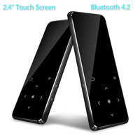 New 8GB Bluetooth 4.0 MP3 Player 2.4 TFT Color Screen FM Voice Recorder Lossless Sound Music Player Touch button with Backlight