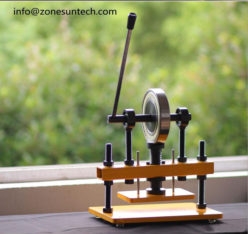 ZONESUN 22x14 cm main en cuir coupe papier Photo PVC EVA feuille moule Cutter manuel en cuir moule Machine de découpe