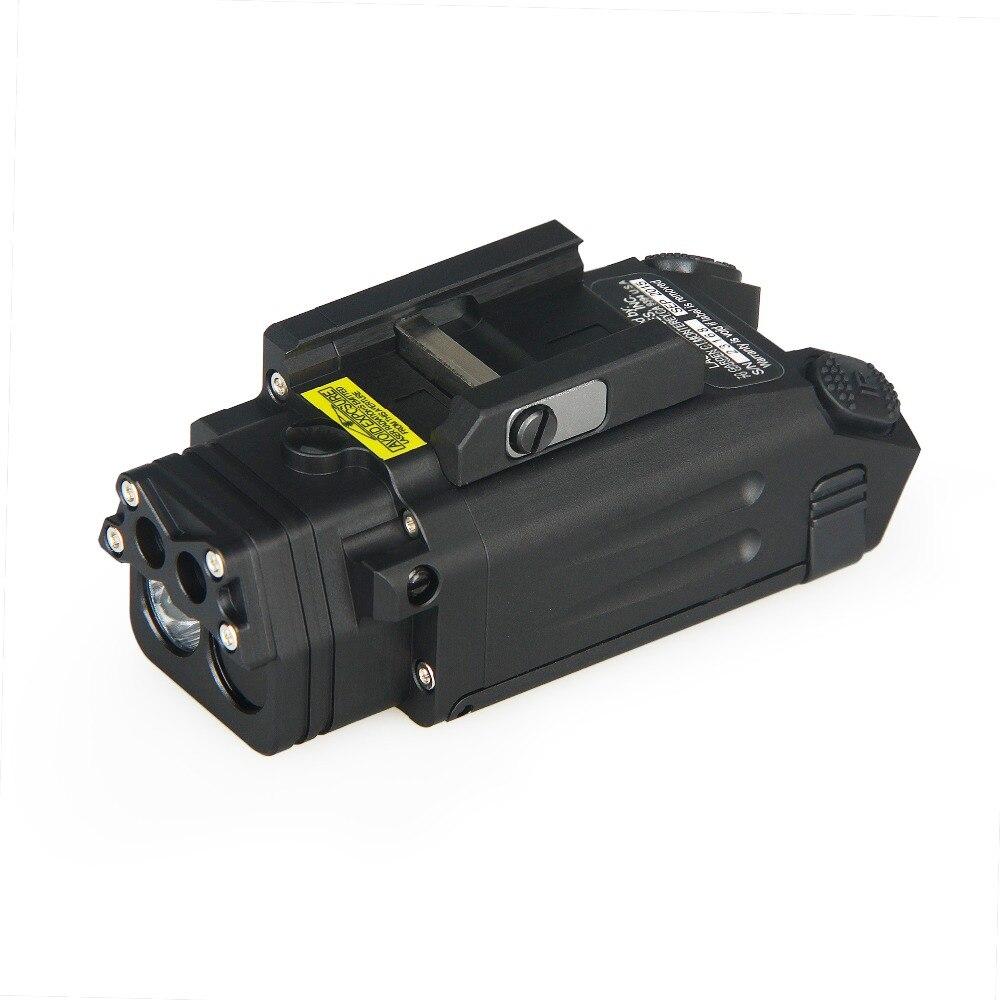 Lumière de chasse DBAL-PL tactique IR Laser lumière arme LED pistolet Tac lampe de poche avec Laser rouge VI03007
