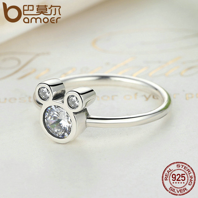 Sterling Silver Dazzling Miky Mouse Ring