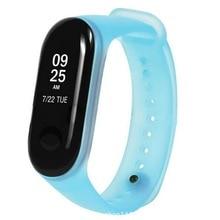 Xiaomi Mi 3 sport Silicone watch wrist Band Smart Bracelet Wristband Waterproof Bubber jelly Strap Accessories Pink Blue