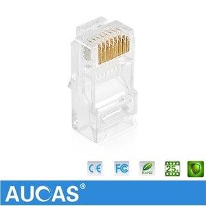 AUCAS высокоскоростной UTP Cat5e разъем 8P8C сетевой модульный разъем Cat5e неэкранированный модульный разъем Rj45 клеммы
