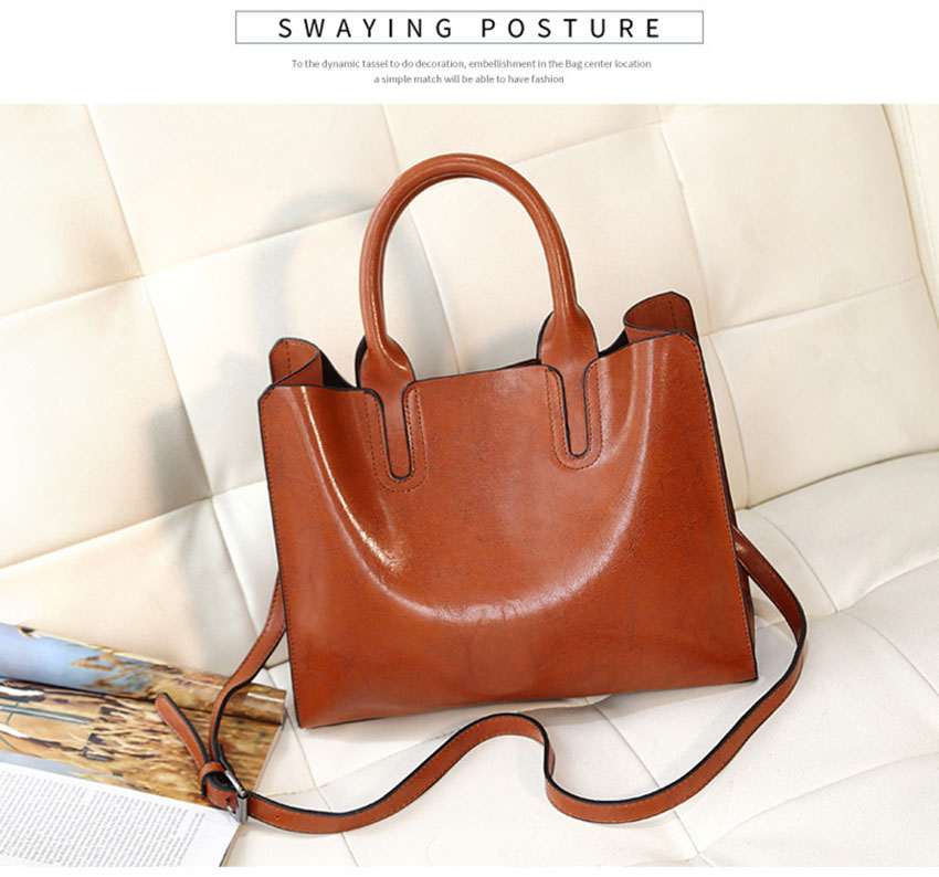 Valenkuci Leather Handbags Women Bag High Quality Casual Female Bags Trunk Tote Famous Brand Shoulder Bag Ladies Bolsos