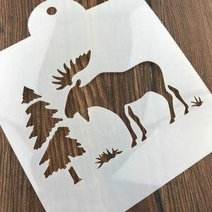 Image 5 - Boże narodzenie Tiramisu ciasto wzornik formy dekoracji formy do pieczenia malowanie ścian Album tłoczenie DIY Craft narzędzie
