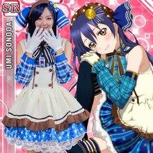 Горячая японского аниме карнавальный костюм Love Live sonona UMI конфеты горничной равномерное принцесса Vintage Лолита платье милые аниме Custume