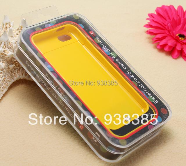 Alta capacidad de 4200 mah de energía de reserva externo del cargador de batería para iphone 5 5s, ios7 Compatible del envío libre (1 unids)