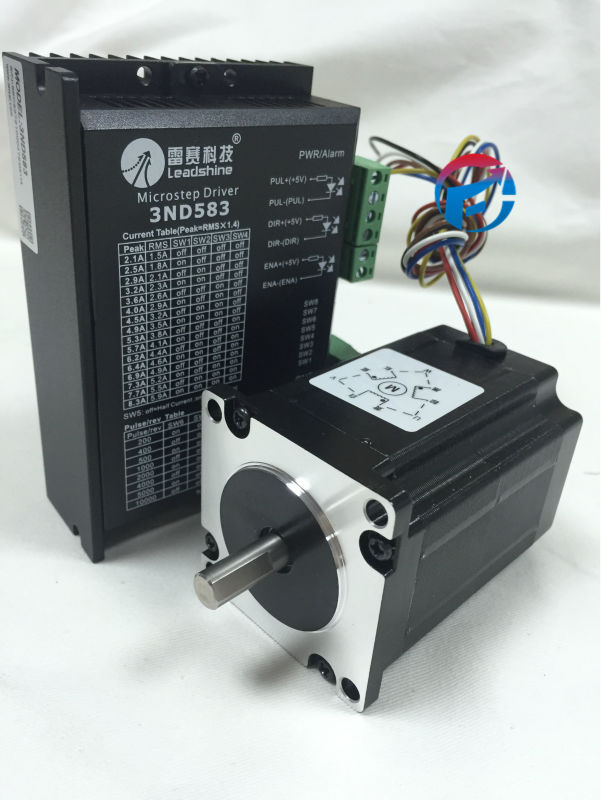 Leadshine Stepper Motor Drive 3ph 5.2A 1.5NM NEMA23 57mm 20~50VDC For CNC Engraving Machine 573S15+3ND583 цена и фото