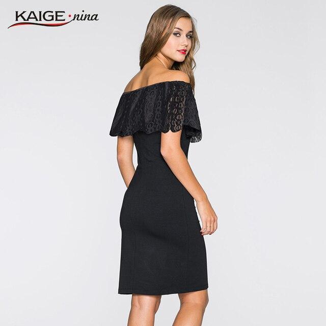 Kaige Nina Women Dress summer Bodycon Dresses with lace Plus Size Chic Elegant off shoulder  Evening Party Dresses 9023