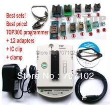 Yeni TOP3000 USB evrensel programcı EPROM MCU PIC, AVR + 12 adaptörü + SOP8 klip + kelepçe soket desteği fazla 30000 IC