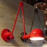 Американский Лофт настенный светильник механический настенный светильник с напоминанием Выдвижной двойной винтажный настенный светильни