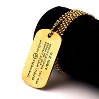 NYUK Người Đàn Ông Mới của Đồ Trang Sức Army Phong Cách Titanium Thép Đen/Vàng/Bạc Dog Khóa Đánh Bóng Quân Đội Quân Mặt Dây Chuyền vòng cổ Cho Quà Tặng