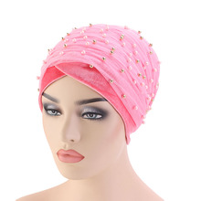 2017 New Luxury women Mass Gold Beaded Mesh Head wrap Velvet Nigerian Turban Women Hijab Long scarf Headscarf Turbante