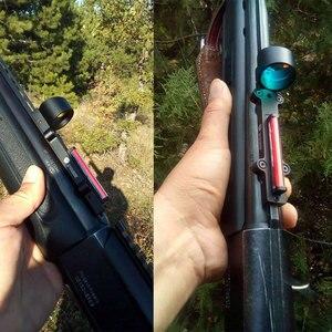Image 3 - Jacht Scopes Lichtgewicht Fiber Sight 1X28 Red Dot Sight Scope Rode En Groene Fiber Fit Shotguns Rib Rail jacht Schieten