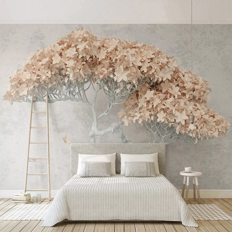 Custom 3D Photo Wallpaper Modern Fashion Abstract Flower Tree Interior Restaurant Living Room Bedroom Mural Home Decor Wallpaper