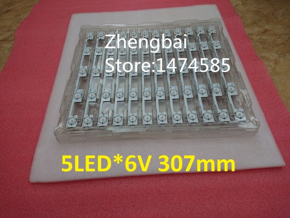 New 100 Pieces/lot 5LED*6V 307mm LED backlight strip bar for KL39GT618 35017988 title=