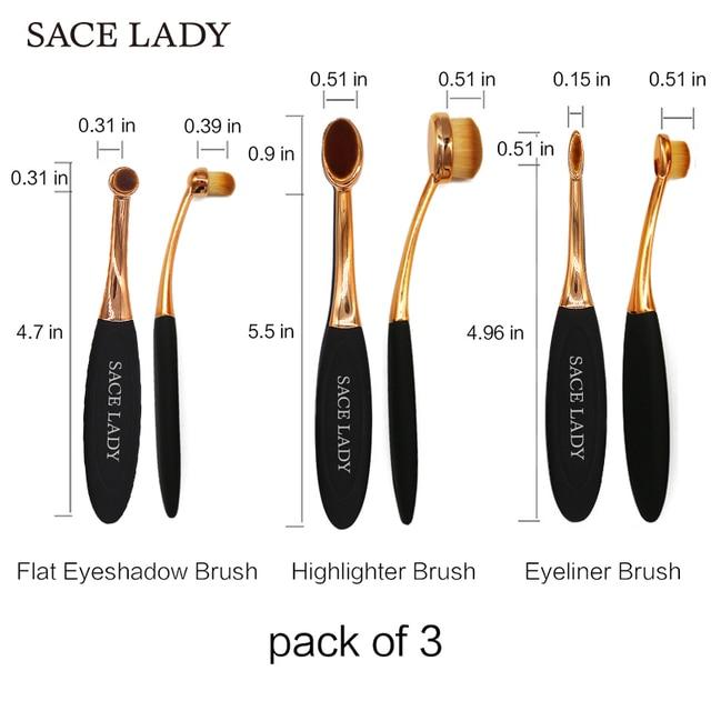 SACE LADY Make Up Brosses Professionnel Fondation Make-up Brush Set Blush Poudre Maquillage Kit Pour Ombre Surligneur Outil cosmétique 5