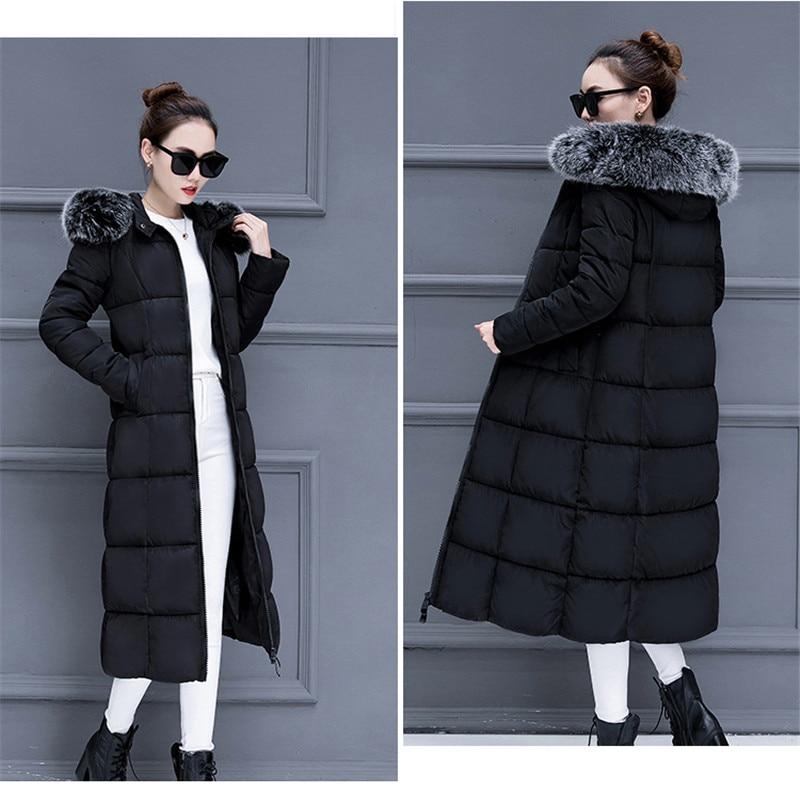Automne Grand Femmes Nouveau Fourrure 2018 Col De Et Manteau Coton Section Épaississement Vêtements D'hiver Longue gqndS1