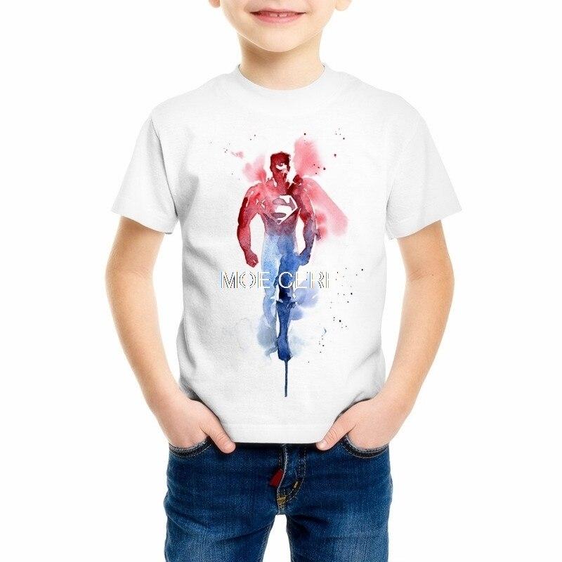 American Big Hero Superman Children's T Shirts 3d Cartoon Iron Man/hulk Giant/captain America/spiderman T-shirt C17-3