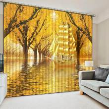 custom home window photo curtains Rich tree curtain blackout living room bedroom Home Decoration(China)