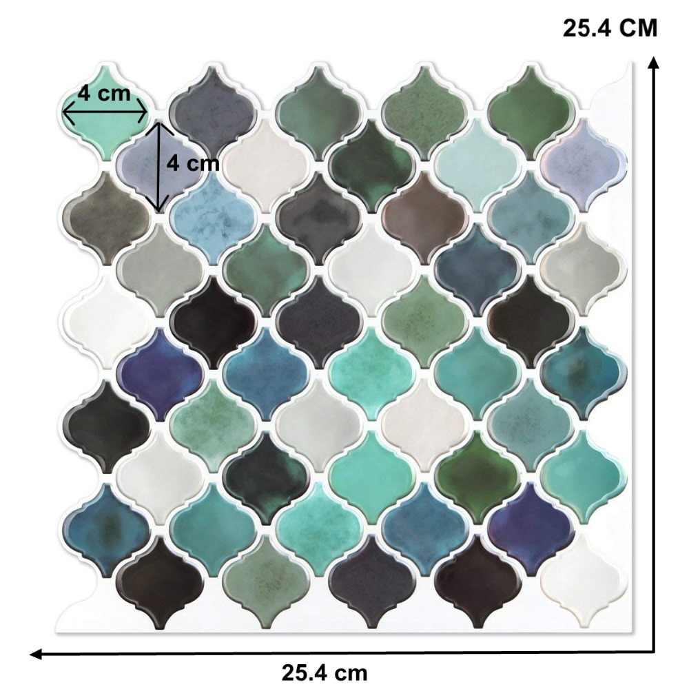 ランタンアラビアモロッコタイル自己粘着バックバッフル 3d モザイク壁紙エチレン浴室 Diy 装飾 ウォール ステッカー Gooum