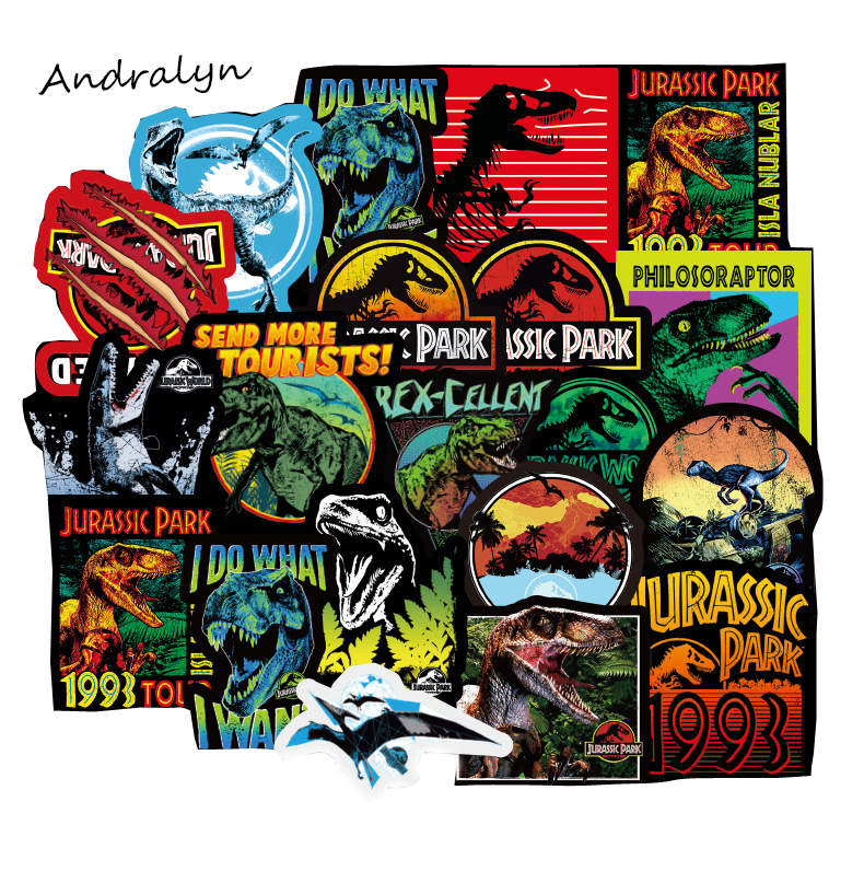 75 Pcs/Lot Jurassic Park Graffiti Stickers Dinosaur Seris For Luggage Laptop Notebook Car Motorcycle Toy Phone Car Styling