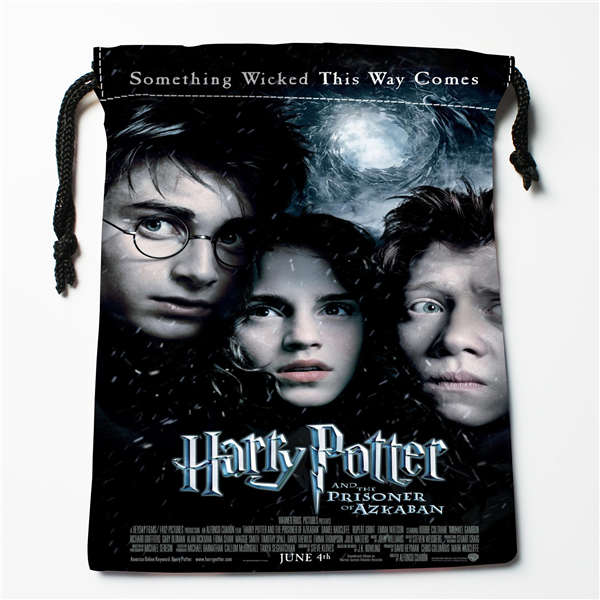 Custom Printing Harry Potter  (1 Drawstring Shopping Bags Travel Storage Pouch Swim Hiking Toy Bag Unisex  Multi Size18-12-05-32