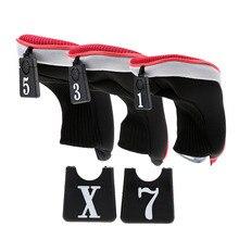 3Pcs/Set Club Heads Soft 1 3 5 Wood Golf Club Driver Headcovers Professional Golf Set Complete Sets