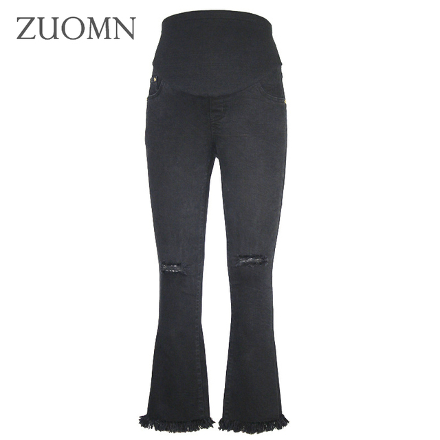 Maternity Pants Pregnant Wide Leg Office Bell Bottom Formal Straight Trousers Pregnancy Clothes Y804