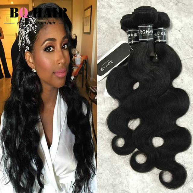 BQ Hair Mink 8A Brazilian Short Bob Hair For Black Women 3 Body Wave Bundles Unprocessed Virgin Brazilian Hair Crotchet Braids