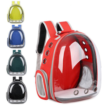 Beautiful Breathable Portable Pet Carrier Bag Outdoor Travel puppy cat bag Transparent Space Backpack Capsule