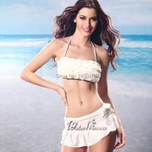 WATER PRINCESS White Skirt Hot Bikini 2017 Swimsuit Swimwear Sexy women's swimming suit Summer Bather Beach Wear Bathing Suit