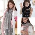 Женская с конфеты постепенное цвет круглыми точками шарф платок обертывания украл мягкие шарфы 95OK