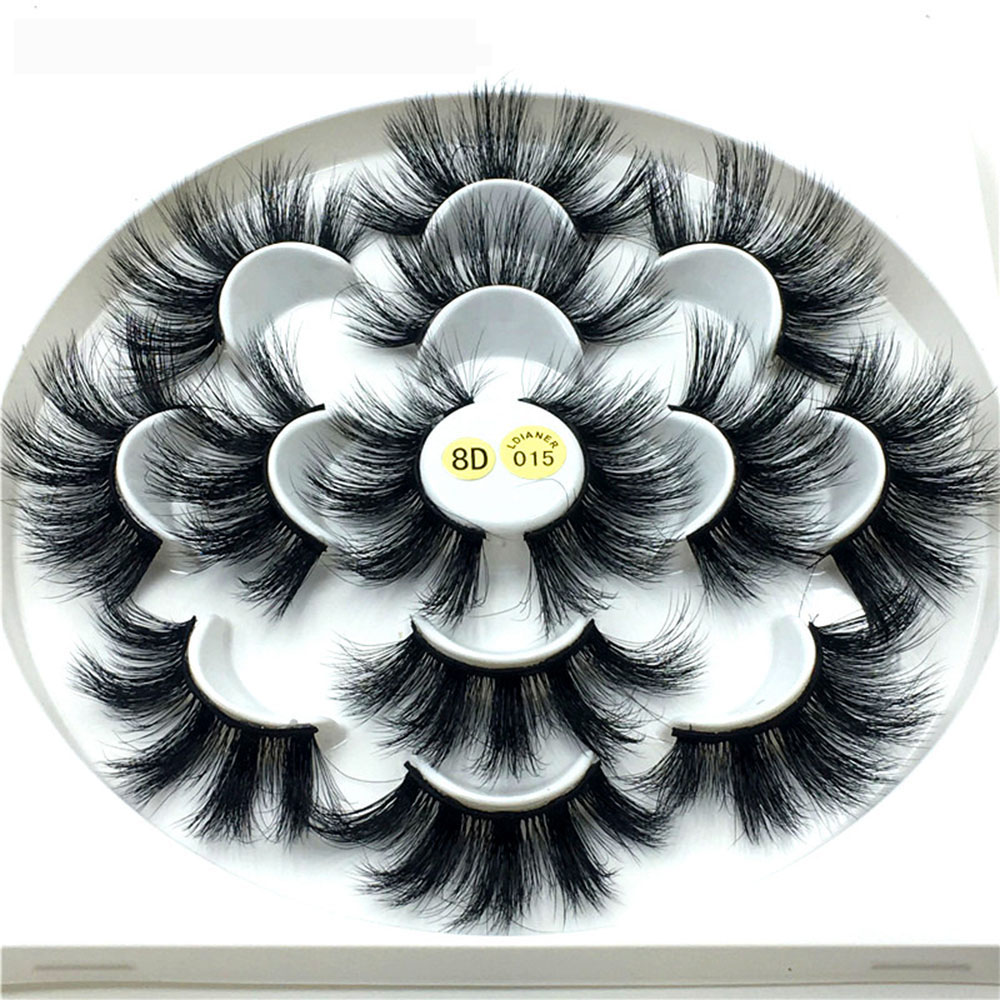 36ab49ce2f1 NEW1/7 Pairs 3D Natural Mink Hair False Eyelashes 25mm Long Lashes Extension  Thick Wispy Fluffy Handmade Eye Makeup Tools