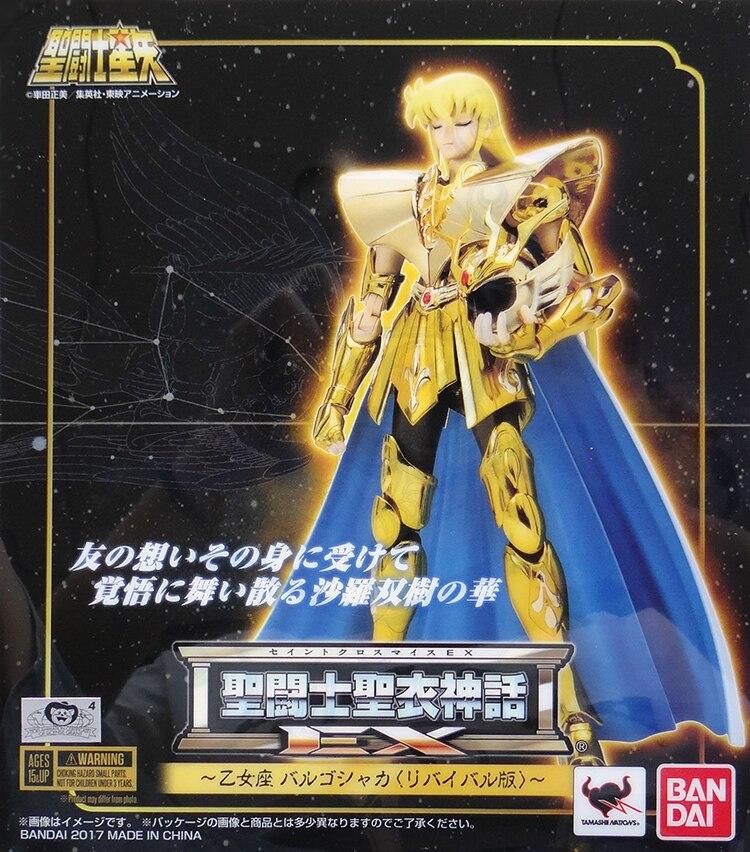 Novo modelo brinquedos saint seiya pano mito ouro ex 2.0 virgo shaka figura de ação brinquedo bandai coletor
