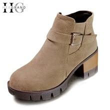ฮีแกรนด์วินเทจผู้หญิงรองเท้าข้อเท้าหัวเข็มขัดหนังนิ่มสบายๆแพลตฟอร์มMedส้นรองเท้าผู้หญิงC Reepersซิปฤดูใบไม้ร่วงผู้หญิงรองเท้าXWX5190