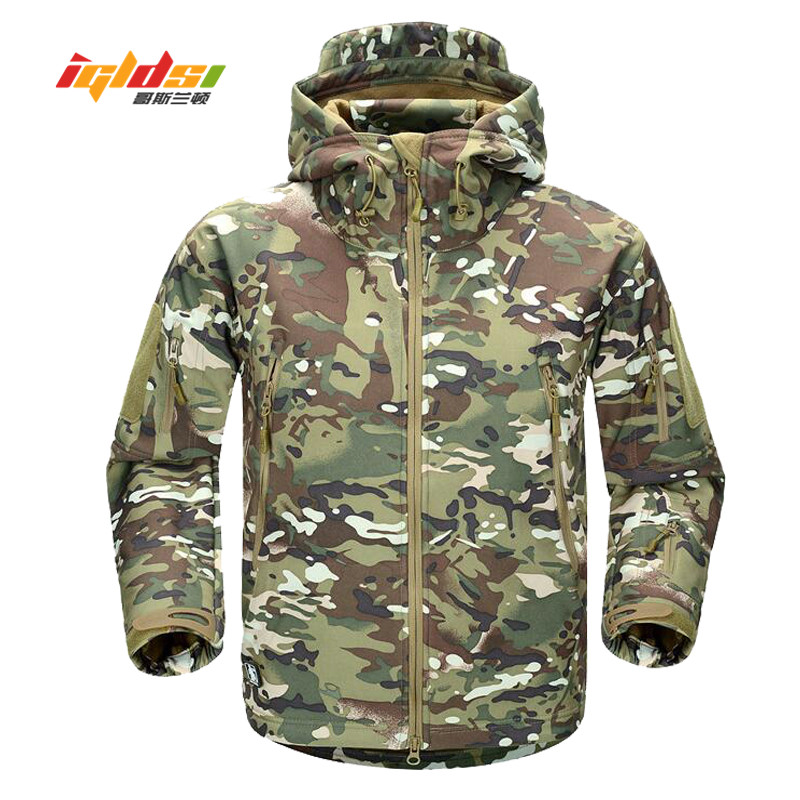2018 Mens Military Camouflage Fleece Jacket Brand Autumn Army Tactical Multicam Male Camouflage Coats Waterproof Windbreakers