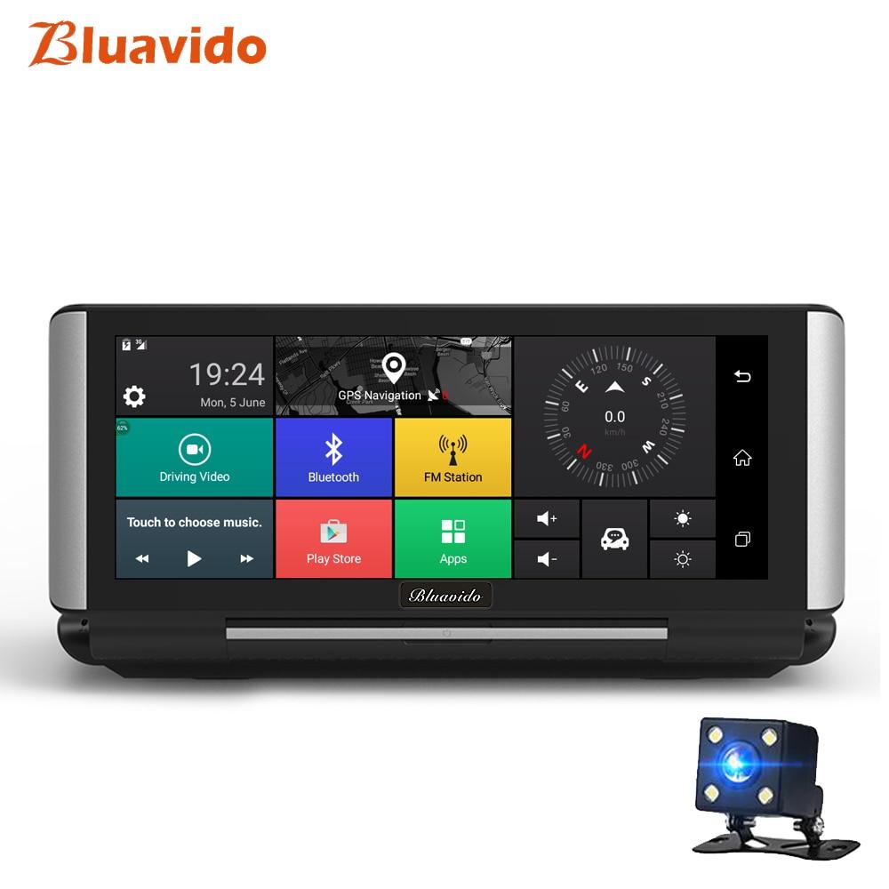 Bluavido 6.86 Car DVR GPS Navigation 4G Android 5.1 ADAS Full HD 1080P Car Video Camera Recorder WIFI Dual Lens Reverse image e ace car dvr android touch gps navigation rearview mirror bluetooth fm dual lens wifi dash cam full hd 1080p video recorder