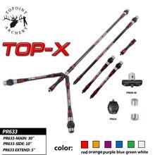 1 Set Boogschieten Cross Carbon Stabilizer Balance Bar Staaf Demper Schokdemper Compound Boog Jacht Schieten Boog Pijl Accessoires