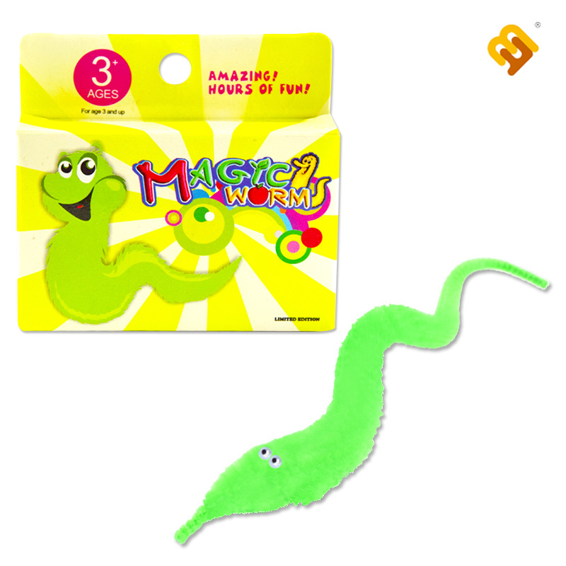 6pcs/lot Assorted Colors Mr.Fuzzy Plush Magic Worm Twisty Trick Toys Street Wiggle Worm Toys For Kids Children