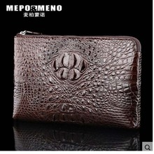 maibomenguo Real crocodile leather men clutch bag  stylish new style of men's business briefcase men bag 100% genuine real crocodile belly skin men briefcase laptop bag top luxury men business bag black luxury quality men bag croco