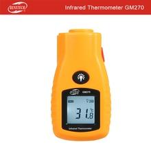 BENETECH цифровой мини-Контакт Инфракрасный термометр для измерения температуры GM270 рукоять лазерный прибор для измерения температуры