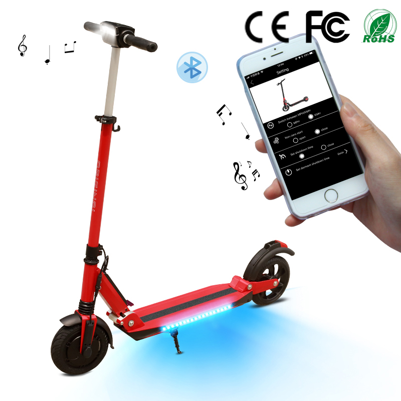 SUPERTEFF EW4 kugoo App electric scooter Bluetooth music scooter with LED light  8 inch 36V 7.8 ah e-scooter folding designSUPERTEFF EW4 kugoo App electric scooter Bluetooth music scooter with LED light  8 inch 36V 7.8 ah e-scooter folding design