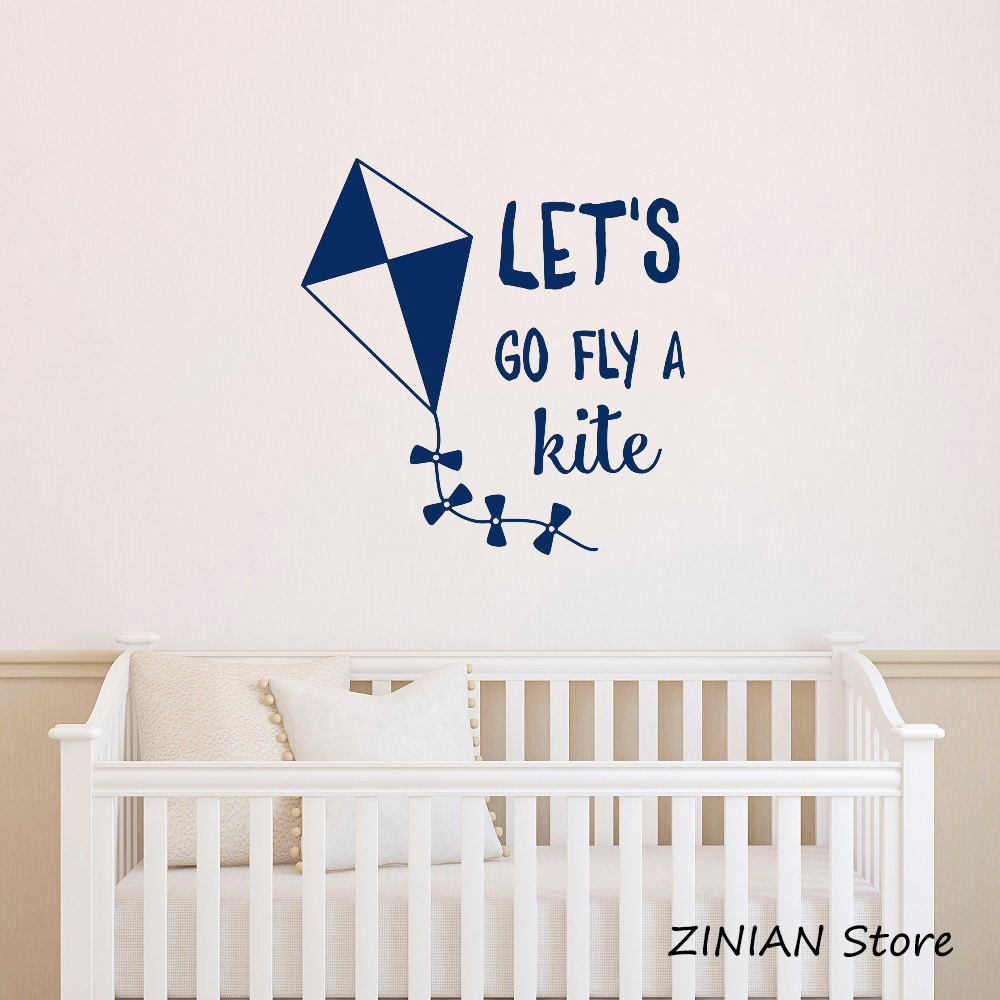 Us 7 98 25 Off Motivational Quotes Vinyl Wall Stickers Bedroom Kids Room Ornament Removable Kite Decal Baby Nursery Art Decals Mural Z083 In
