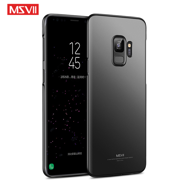 new product a9d72 e21e2 US $4.99  Msvii Case For Samsung Galaxy S9 Case Luxury Full Protection Hard  Frosted Case For Samsung Galaxy S9 Plus S9 Phone Back Cover-in Fitted ...