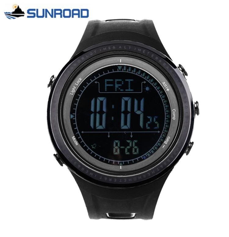 sport digital hours altimeter compass