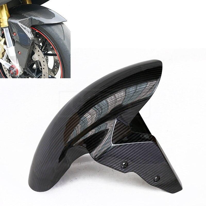 Мотоцикл углеродного волокна переднее крыло крышка защиты грязезащитных обтекатель аксессуары для BMW S1000RR 2009-2017 2018 S 1000 RR 18