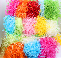 Wholesale Wedding Products Party SuFavor Box Candy Cases Candy Boxes Filler Raffia Shred Paper Crinkle Cut