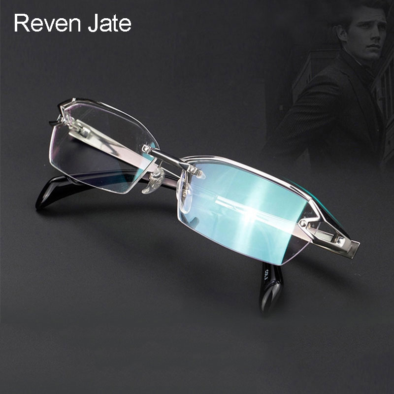 Reven Jate F1143 Optical Glasses Pure Titanium Frame Prescription Eyeglasses Rx Men Glasses for Male Eyewear